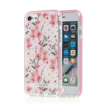 Kryt SO SEVEN Tokyo pro Apple iPhone 6 / 6S / 7 / 8 - gumový - kvetoucí sakury / bílý