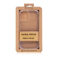 Kryt TACTICAL Plyo pro Apple iPhone 12 Pro Max - zesílené rohy - gumový - průhledný