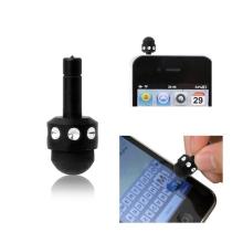 Dotykové pero / stylus mini - antiprachová záslepka na jack konektor - černé