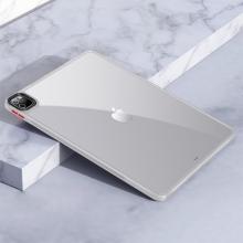 """Kryt / obal pro Apple iPad 12,9"""" (2018 / 2020 / 2021) - průhledný - plastový / gumový - bílý"""