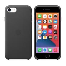 Originální kryt pro Apple iPhone 7 / 8 / SE (2020) - kožený - černý
