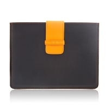 Kožená aktovka pro iPad 2. / 3. / 4.gen. - s oranžovým poutkem