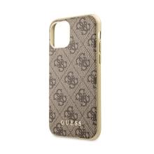 Kryt GUESS 4G pro Apple iPhone 11 Pro Max - plastový / gumový - hnědý