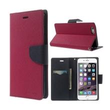 Pouzdro Mercury Goospery pro Apple iPhone 6 Plus / 6S Plus - stojánek a prostor pro platební karty - růžovo-modré