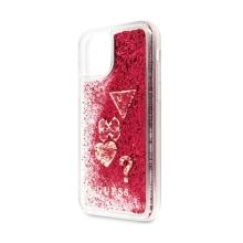 Kryt GUESS pro Apple iPhone 11 Pro - plastový - červené třpytky