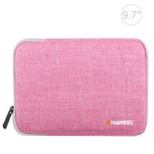 "Pouzdro se zipem HAWEEL pro Apple iPad 9,7"" / 10,2"" / 10,5"" - látkové - růžové"