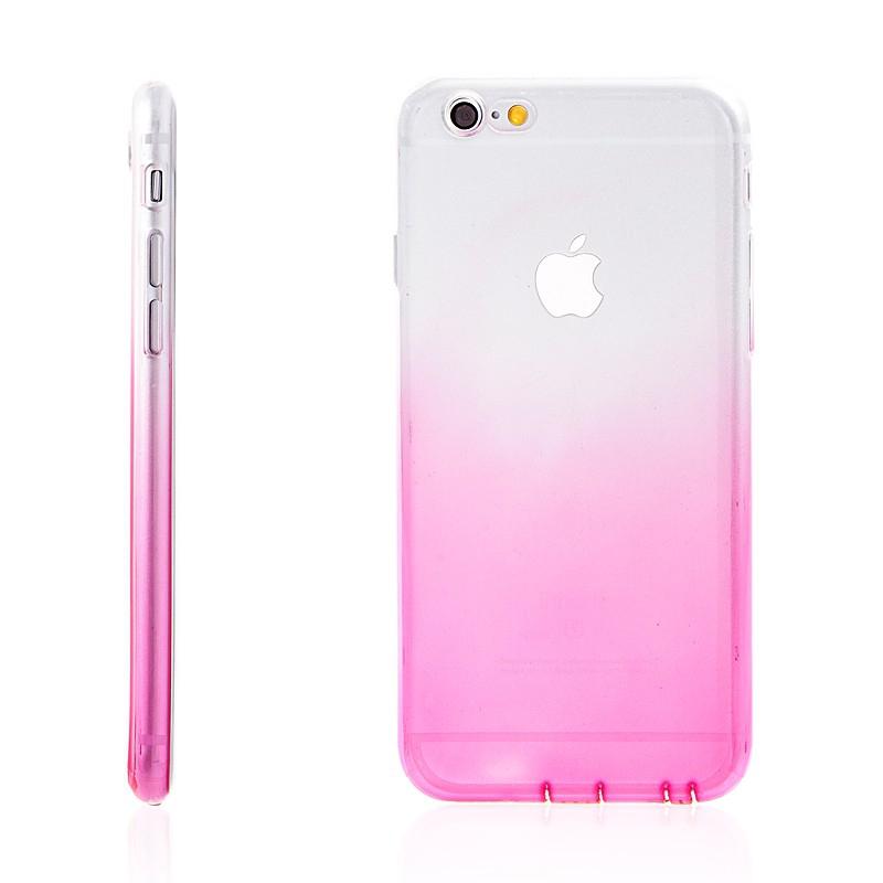 Kryt pro Apple iPhone 6 / 6S - gumový - růžový / průhledný