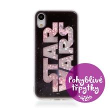 Kryt STAR WARS pro Apple iPhone Xr - pohyblivá srdíčka - gumový - černý