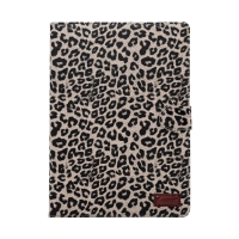 "Pouzdro pro Apple Air1 / iPad 9,7"" (2017-2018) - stojánek - leopardí vzor / hnědé"