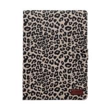 Pouzdro pro Apple Air2 / iPad Pro 1.gen. - stojánek - leopardí vzor / hnědé
