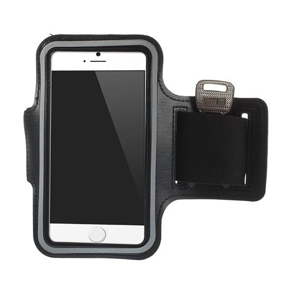 Sportovní pouzdro pro Apple iPhone 6 / 6S - černé s reflexním pruhem