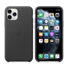 Originální kryt pro Apple iPhone 11 Pro - kožený - černý