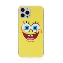 Kryt Sponge Bob pro Apple iPhone 12 Pro Max - gumový - vysmátý Sponge Bob