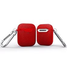 Pouzdro / obal pro Apple AirPods - motiv kůže - karabina - silikonové - červené
