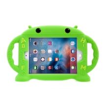 Pouzdro pro děti pro Apple iPad mini 1 / 2 / 3 / 4 / 5 - rukojeť / stojánek - robot - silikonové - zelené