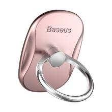 Stojánek / prsten BASEUS pro Apple iPhone - kovový - Rose Gold / stříbrný