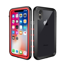 Pouzdro Redpepper pro Apple iPhone Xs Max - voděodolné - plastové - černé / červené