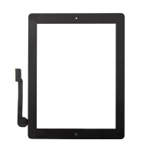 Dotykové sklo (touch screen) pro Apple iPad 4.gen. - osazené - černé - kvalita A+