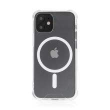 Kryt pro Apple iPhone 12 mini - zesílené rohy - MagSafe magnety - plastový / gumový - průhledný