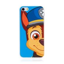 """Kryt """"Tlapková patrola"""" pro Apple iPhone 5 / 5S / SE - gumový - Chase - modrý"""