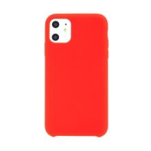 Kryt pro Apple iPhone 11 - gumový - příjemný na dotek - červený