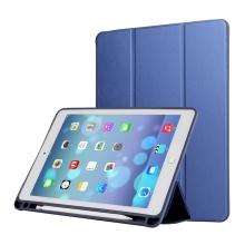 """Pouzdro / kryt pro Apple iPad Pro 12,9"""" / 12,9"""" (2017) - prostor pro Apple Pencil - umělá kůže - modré"""