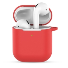 Pouzdro / obal pro Apple AirPods 2019 s bezdrátovým pouzdrem - silikonové - červené