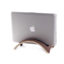 Stojan / držák SAMDI pro Apple MacBook Air / Pro - svislý - dřevěný - tmavě hnědý