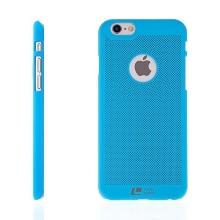 Plastový kryt LOOPEE pro Apple iPhone 6 / 6S s výřezem pro logo - děrovaný - modrý