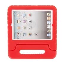Ochranné pěnové pouzdro pro děti na Apple iPad 2. / 3. / 4.gen. s rukojetí / stojánkem - červené