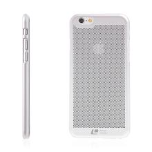 Kryt LOOPEE pro Apple iPhone 6 / 6S - plastový děrovaný - stříbrný
