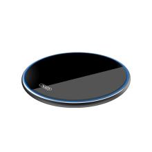 Bezdrátová nabíječka / nabíjecí podložka XO WX-016 Qi - skleněná - černá