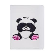 """Pouzdro pro Apple iPad Pro 12,9"""" (2018) - stojánek - umělá kůže - panda s přikrytýma očima"""