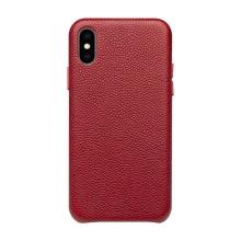 Kryt QIALINO pro Apple iPhone Xs Max - pravá kůže - červený