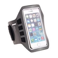 Sportovní pouzdro pro Apple iPhone 5 / 5C / 5S / SE - černo-stříbrné