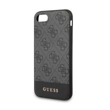 Kryt GUESS Stripe pro Apple iPhone 7 / 8 - umělá kůže - šedé