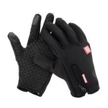 Rukavice HAWEEL pro ovládání dotykových zařízení - neoprenové protiskluzové černé (vel. L)