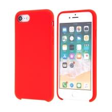 Kryt pro Apple iPhone 7 / 8 / SE (2020) - gumový - příjemný na dotek - červený