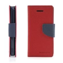 Ochranné pouzdro pro Apple iPhone 5C Mercury Goospery se stojánkem a prostorem pro umístění platebních karet - červeno-modré