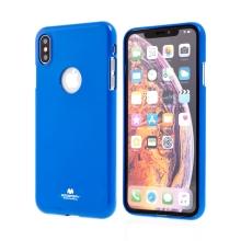 Kryt MERCURY Jelly pro Apple iPhone Xs Max - výřez pro logo - gumový - modrý