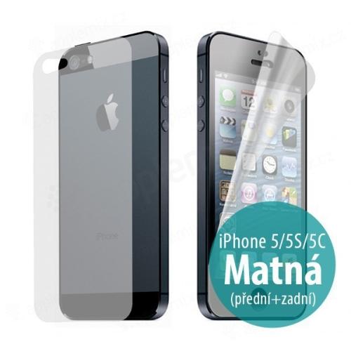 Ochranná fólie pro Apple iPhone 5 / 5C - anti-reflexní (matná) - přední a zadní