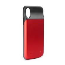 Externí baterie / kryt pro Apple iPhone X / Xs - 3000 mAh - matná - červená