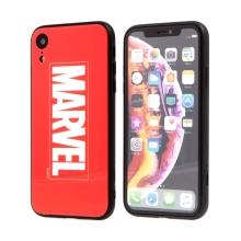 Kryt MARVEL pro Apple iPhone Xr - sklo / guma