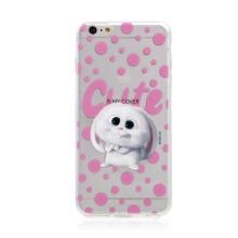 Kryt Tajný život mazlíčků pro Apple iPhone 6 Plus / 6S Plus - gumový - průhledný / králík Snížek
