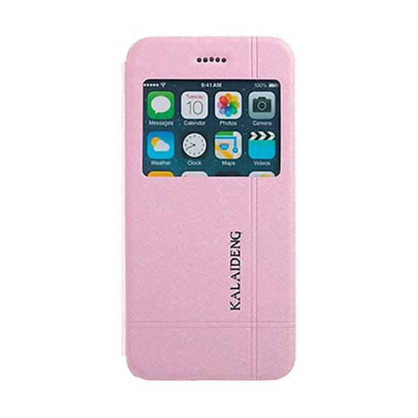 Ochranné pouzdro Kalaideng pro Apple iPhone 6 / 6S se stojánkem a průhledným prvkem / výřezem pro displej - růžovo-bílé