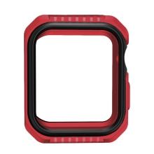 Kryt / pouzdro pro Apple Watch 44mm Series 4 / 5 / 6 / SE - celotělové - plast / silikon - červený / černý