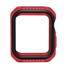 Kryt / pouzdro pro Apple Watch 44mm Series 4 / 5 - celotělové - plast / silikon - červený / černý