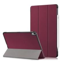 Pouzdro / kryt pro Apple iPad Air 4 (2020) - funkce chytrého uspání - umělá kůže - vínové