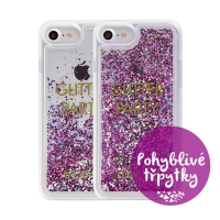 Kryt GUESS Party pro Apple iPhone 6 / 6S / 7 - plastový - glitter / fialové třpytky