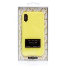 Kryt SO SEVEN pro Apple iPhone X / XS - příjemný na dotek - silikonový - žlutý